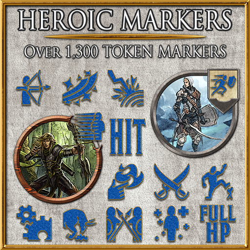 Heroic Markers: Blue & Gold (Part 2)