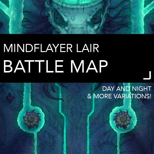 Mindflayer Lair Battlemaps