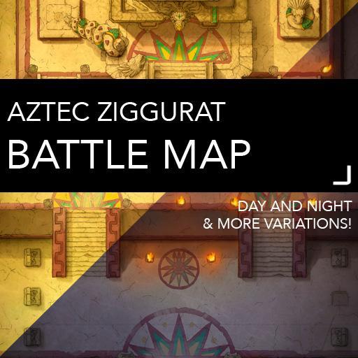 Aztec Ziggurat Battlemaps