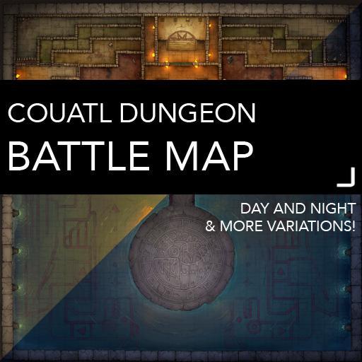 Couatl Dungeon Battlemaps