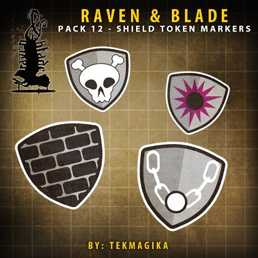 Raven & Blade Pack 12 - Shield Token Markers