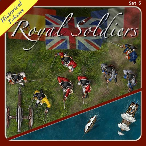 Historical Tokens Set 5, Royal Soldiers