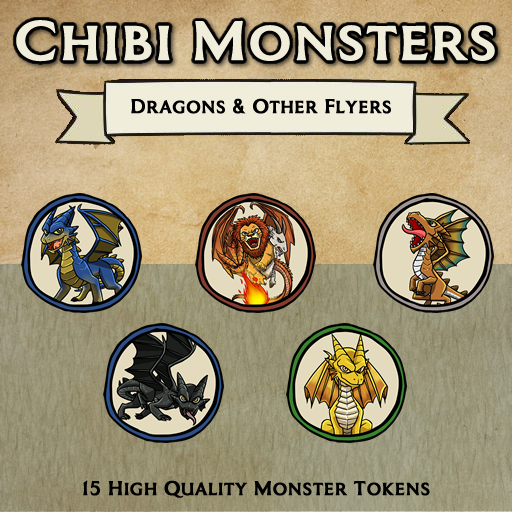 Chibi Monsters - Dragons and Other Flyers [Tokens]
