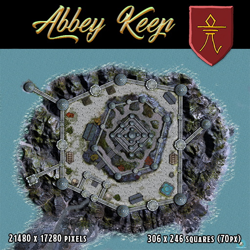 Coastal Abbey Keep