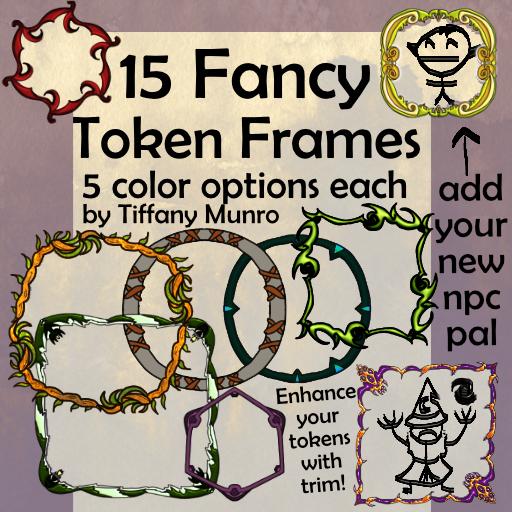 15 Fancy Token Frames