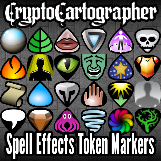 Cryptocartographer Spell Effect Token Markers