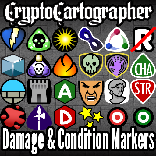 Cryptocartographer Token Markers: Combat Conditions Buffs