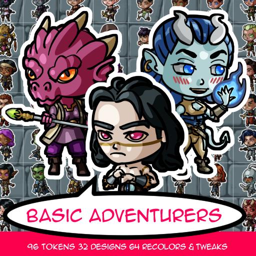 Basic Adventurer Tokens