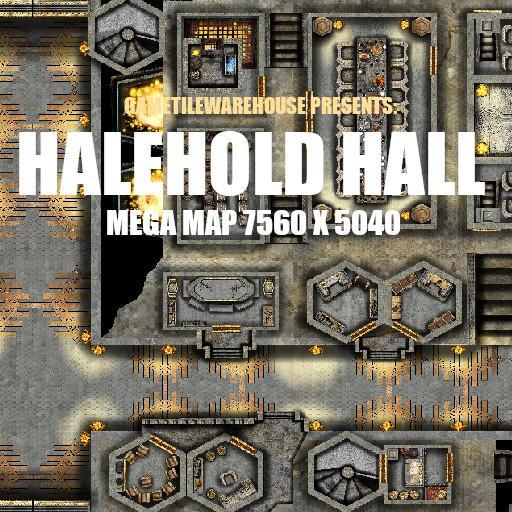 Mega Map THE HALEHOLD HALL