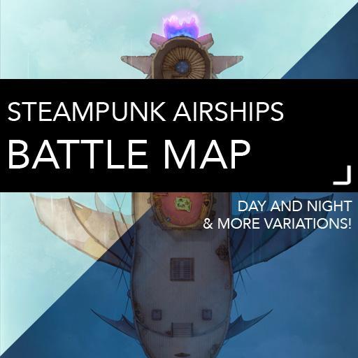 Steampunk Airship Battlemaps