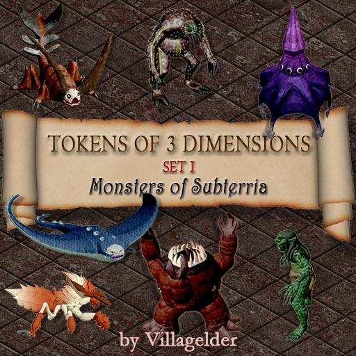 Tokens of 3 Dimensions, Set I, Monsters of Subterria