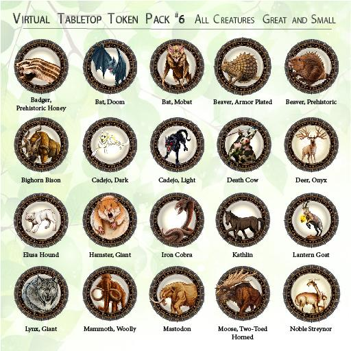 All Creatures Great and Small Token Set
