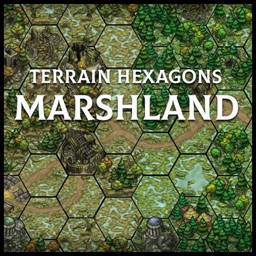 Terrain Hexagons: Marshland