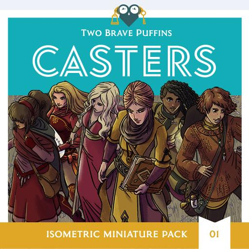 Casters - Isometric Heroes Pack 01
