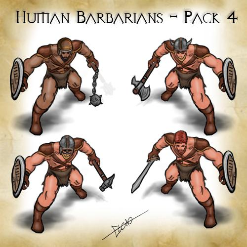 Human Barbarians Pack-4