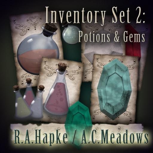 Inventory Set 2: Potions & Gems