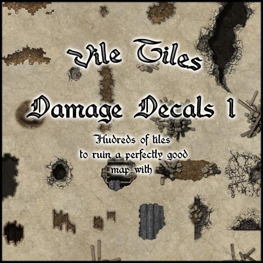Vile Tiles: Damage Decals 1