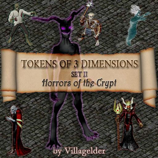 Tokens of 3 Dimensions, Set 2, Horrors of the Crypt
