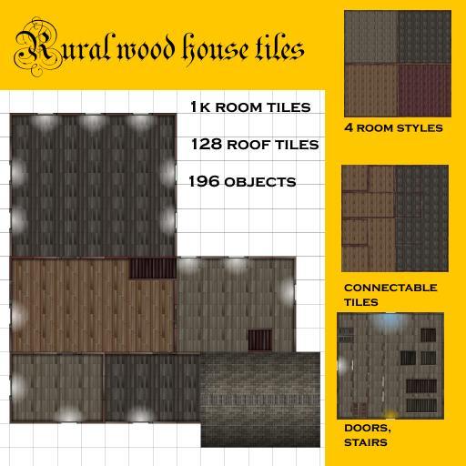 Rural wood house tiles