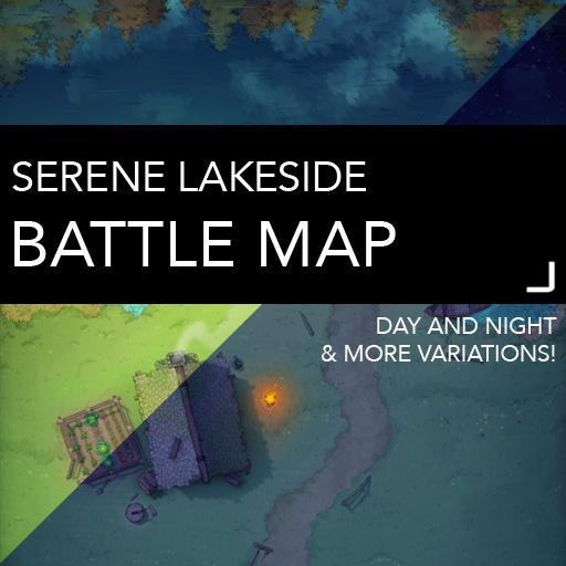 Serene Lakeside Battlemaps