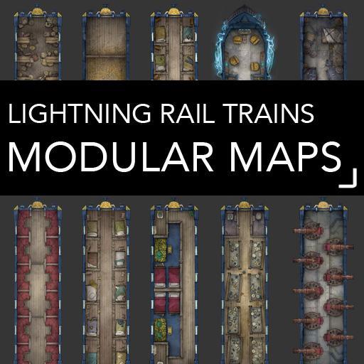 Lightning Rail Battlemaps
