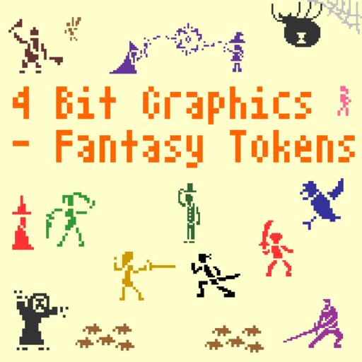 4 Bit Graphics - Fantasy Tokens
