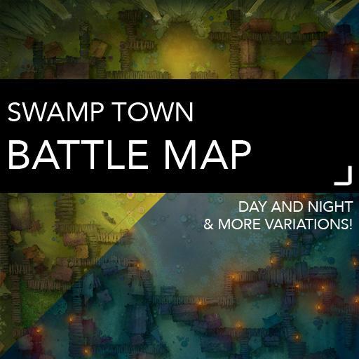 Swamp Town Battlemaps