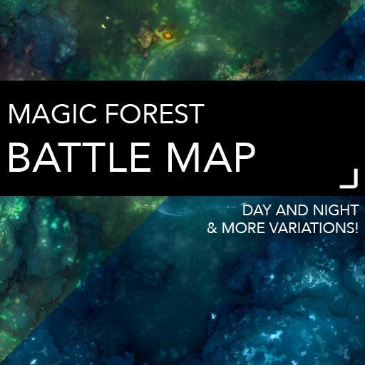 Magic Forest Battlemaps