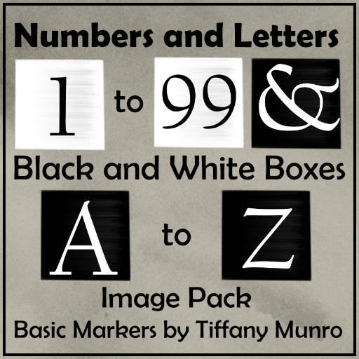 Black and White Squares A-Z 1-100 Map and Status Markers Image Pack