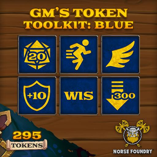 GM's Token Toolkit - Blue/Gold