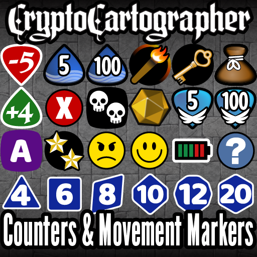 Cryptocartographer Token Markers: Movement and Counters