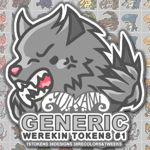 Generic Werekin Tokens 1