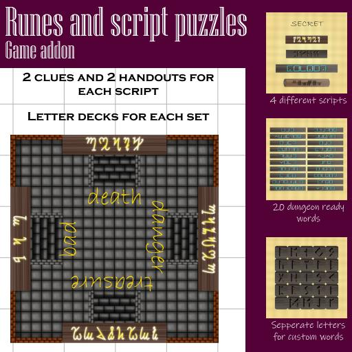 Runes and script puzzles addon