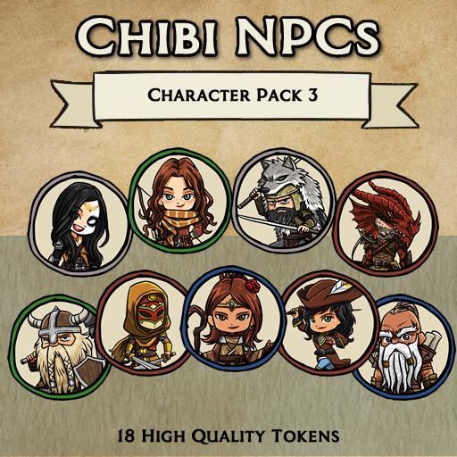 Chibi NPCs - Character Pack 3 [Tokens]