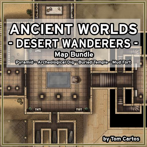 Ancient Worlds 03 Desert Wanderers Map Set