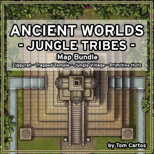 Ancient Worlds 04 Jungle Tribes Map Set