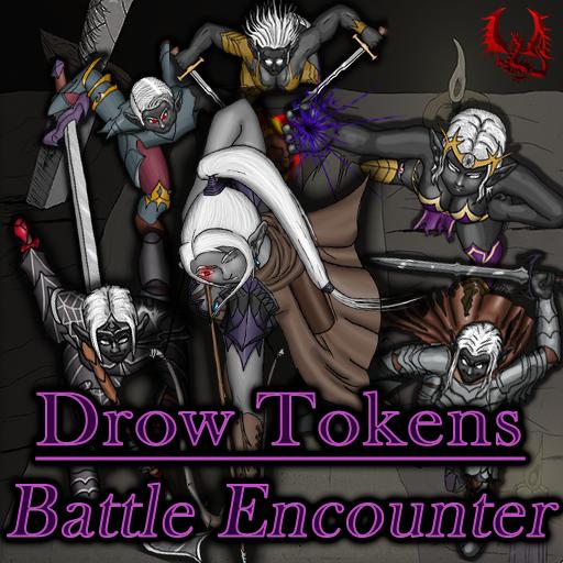 Drow Tokens - Battle Encounter