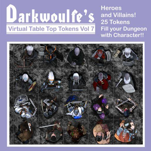 Darkwoulfe's Token Pack Vol7 - Heroes and Villains