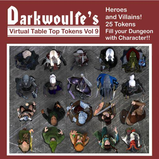 Darkwoulfe's Token Pack Vol9 - Heroes and Villains
