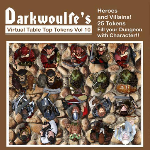 Darkwoulfe's Token Pack Vol10 - Heroes and Villains