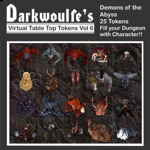 Darkwoulfe's Token Pack Vol6 - Demons of the Abyss