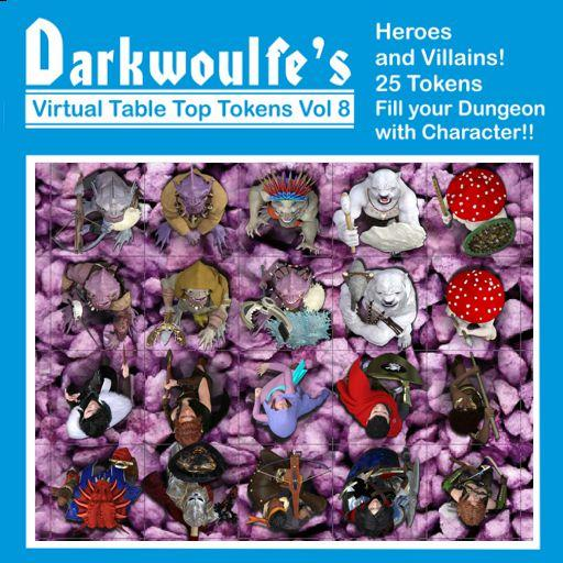 Darkwoulfe's Token Pack Vol8 - Heroes and Villains