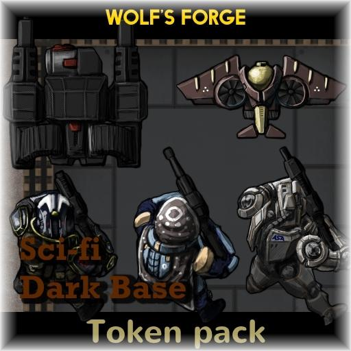 SciFi Dark Base Token Pack