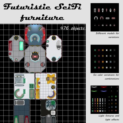 Futuristic SciFi furniture