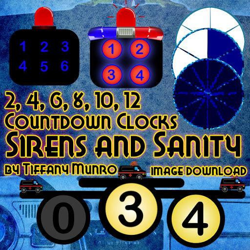 Sirens and Sanity Countdown Clocks - Downloadable Image Pack