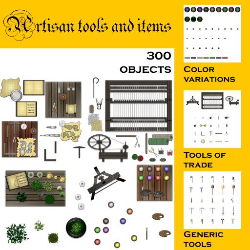 Artisan tools and items