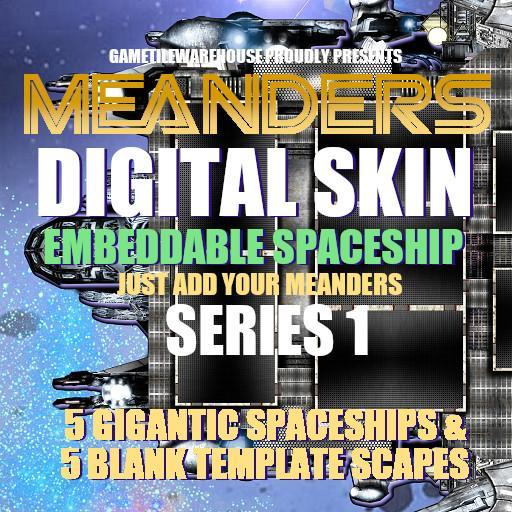 Meanders Digital Skin - SPACESHIP I