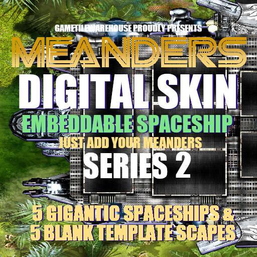 Meanders Digital Skin - SPACESHIP II