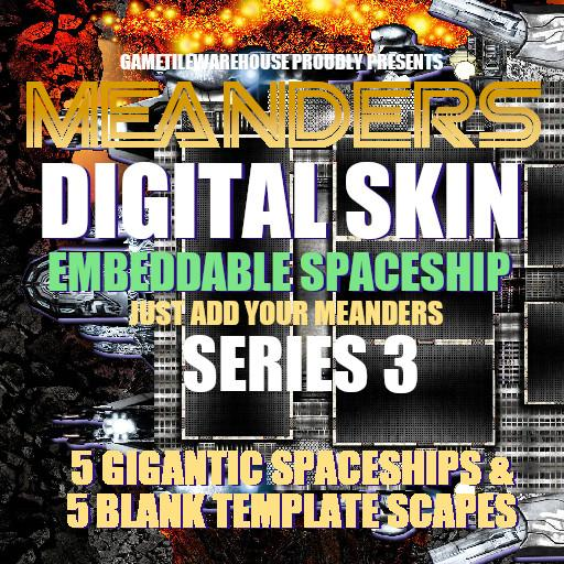 Meanders Digital Skin - SPACESHIP III