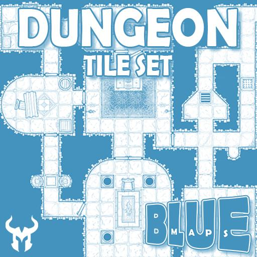 Blue Maps: Dungeon Tile Base Set